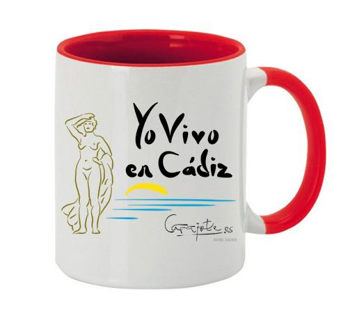 Taza GADES Yo vivo en Cádiz