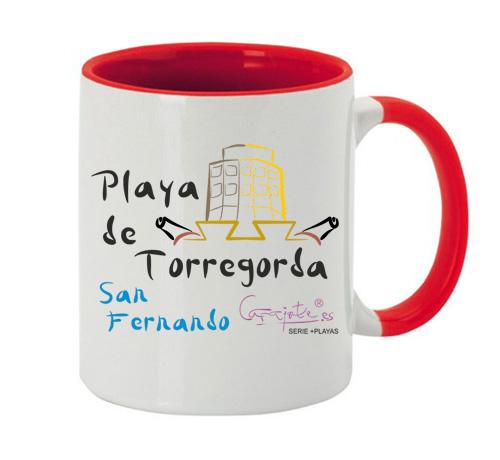 Taza serie +PLAYAS Playa de Torregorda San Fernando