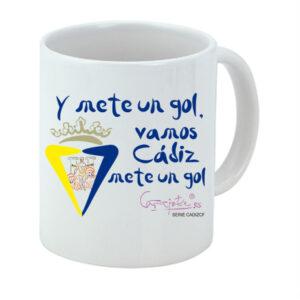 Taza serie CADIZCF Y mete un gol Vamos Cádiz mete un gol