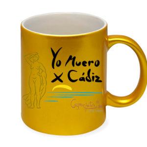 Taza GADES Yo muero x Cádiz Dorado Metalizado (Oferta)