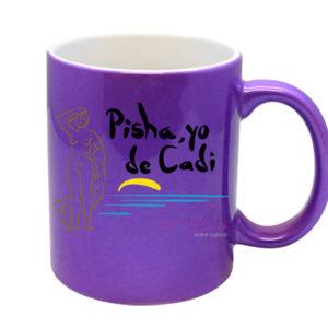 Taza GADES Pisha, yo de Cadi Morada Metalizada (Oferta)