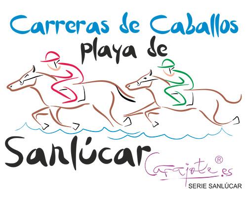 Taza serie SANLÚCAR Carreras de Caballos playa Sanlúcar