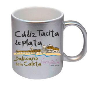 Taza serie CADIZ TACITA DE PLATA Balneario de la Caleta