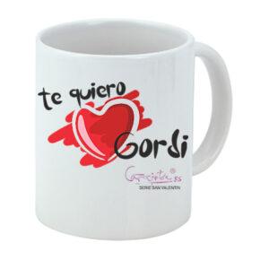 Taza serie SAN VALENTIN Te quiero Gordi
