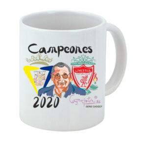 Taza serie CADIZ CF Campeones 2020 Homenaje a Michael Robinson