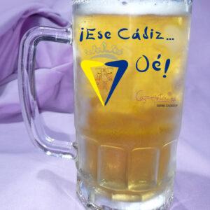 Jarra de Cerveza CADIZ CF Ese Cadi Oé