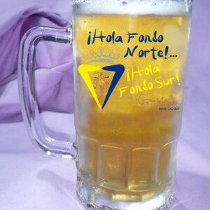 Jarra de Cerveza CADIZ CF Hola Fondo Norte Hola Fondo Sur