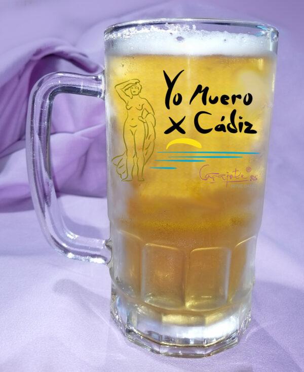 Jarra de Cerveza Yo muero X Cadi