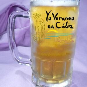 Jarra de Cerveza Yo veraneo en CADIZ