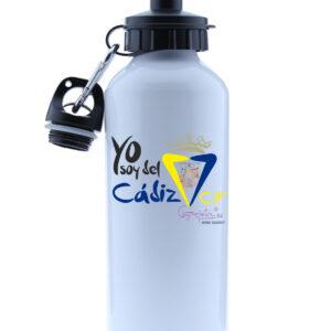 Botella de agua en aluminio 500 ml YO SOY DEL CADIZ CF